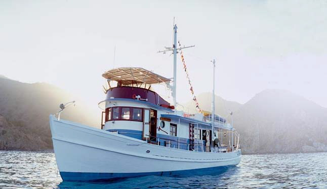 DICKIE WALKER ex-TRAVELER, 63' Eldredge-McInnis trawler yacht.