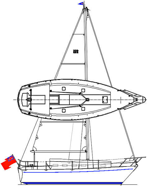 Sapphire 27 Sail and Deck Plan
