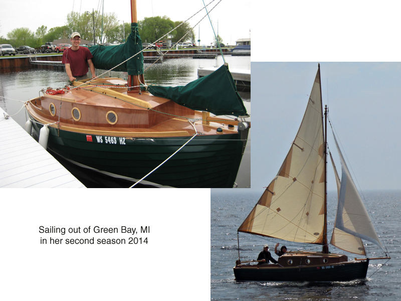 Design 077 sailing from Green Bay, Michigan, 2014