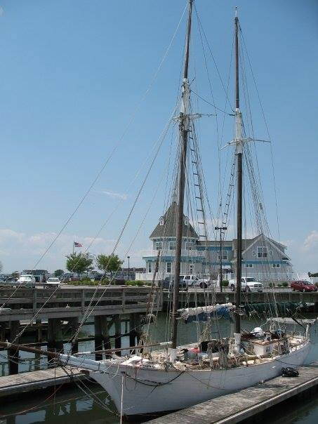 WHISPER (ex-ACTIVE), Murray G. Peterson Coaster II schooner.