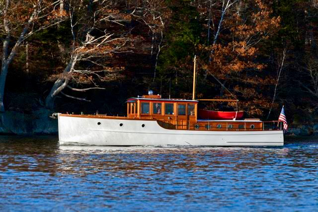 KATIE MACK 1932 Bridgedeck cruiser. Photo by Alison Langley.