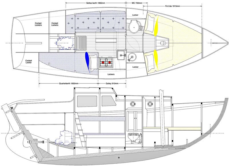 Deben 4.75-Tonner Interior Plan and Profile
