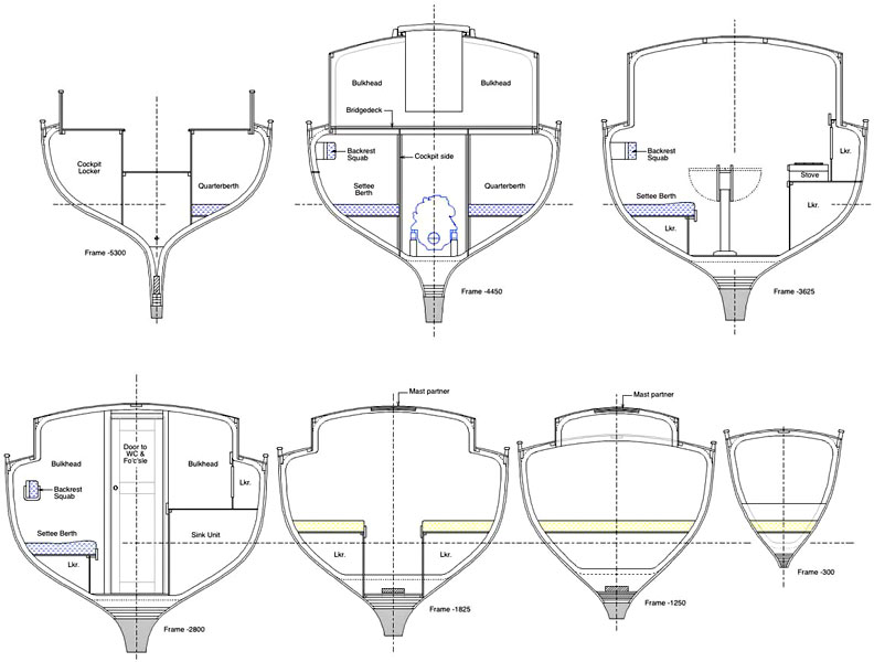 Deben 4.75-Tonner Interior Sections