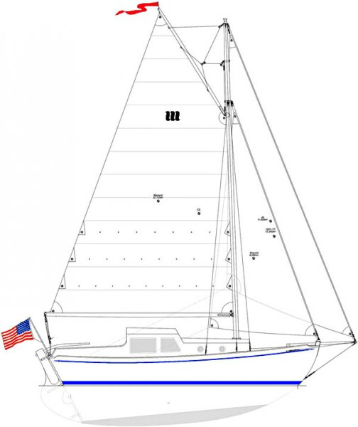 Deben 4.75-Tonner Sailplan