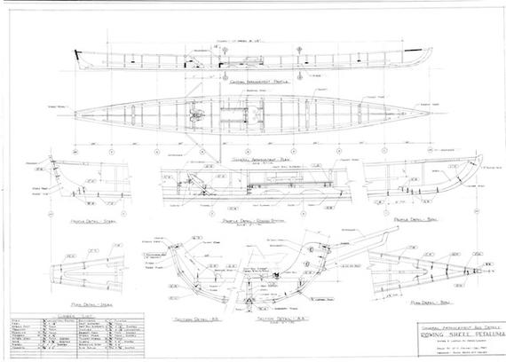 petaluma rowing shell plans page one