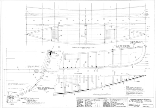 Page one of Simon Watts' canoe plans