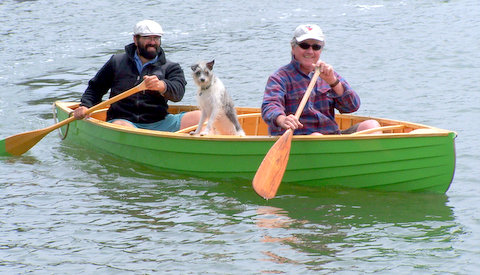 Simon's canoe fits two men, and a dog — Simon Watts
