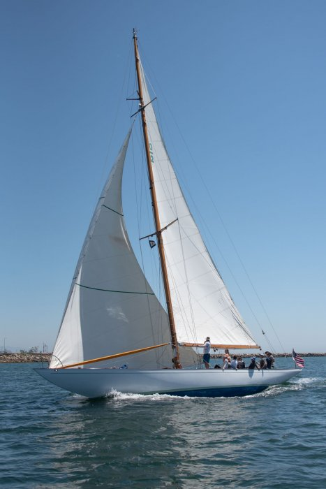 SALLY racing in 2019 San Diego YC Opening Day Race.