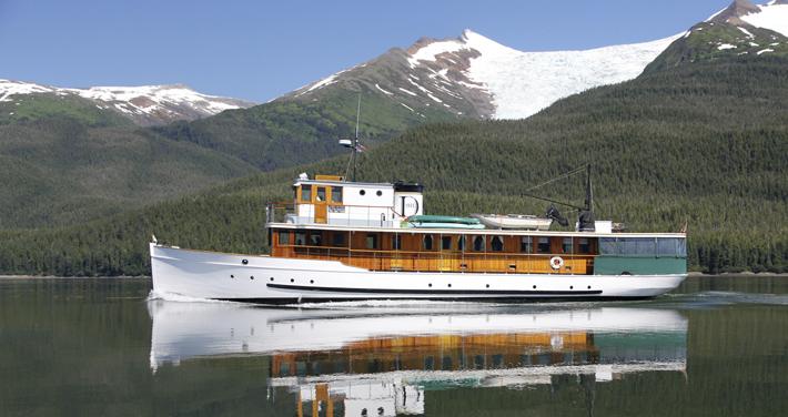 DISCOVERY, 87' D.M. Callis fantail motoryacht.