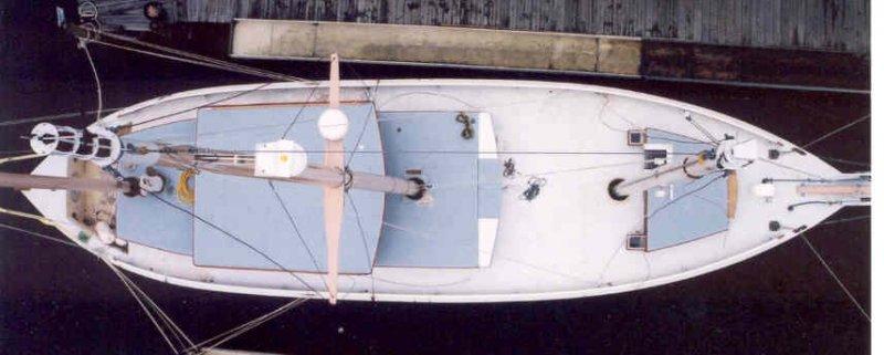 ALCA i, George Buehler three-masted motorsailer.