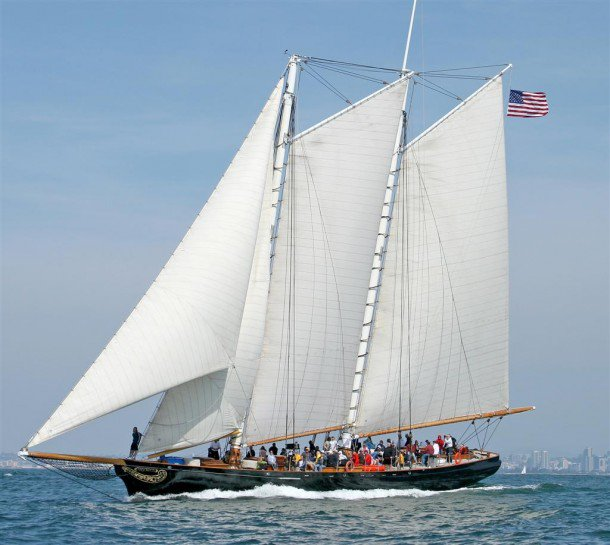 AMERICA, replica built by Scarano Brothers, 1995.