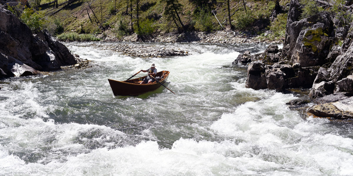 Greg Hatten navigates on one of the Middle Fork's rapids.