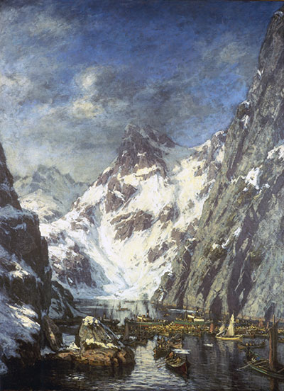 The Battle of Trollfjord painting