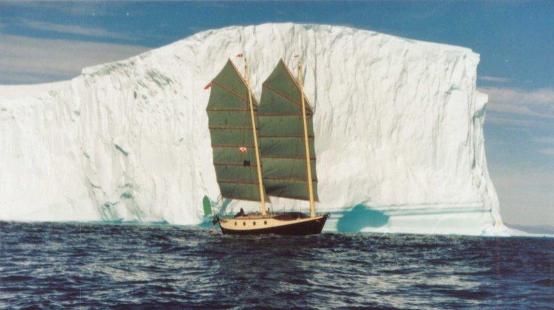 Badger sailing off Greenland