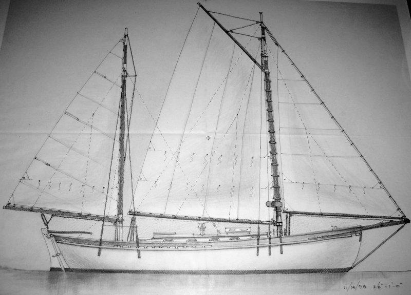 BARD, a John G. Hanna Albatross ketch.