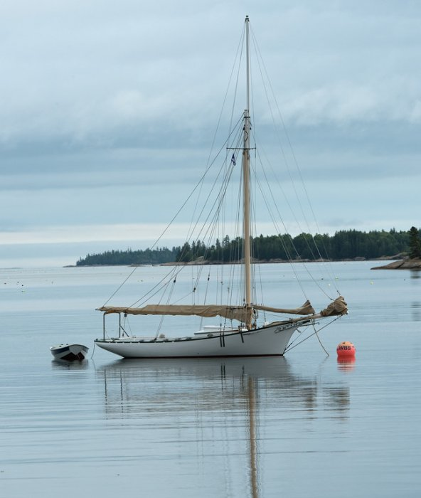 BELFORD GRAY, Friendship sloop built at WoodenBoat School. Photo ©Richard Leighton
