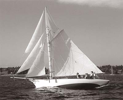 BELFORD GRAY, Friendship sloop built at WoodenBoat School.