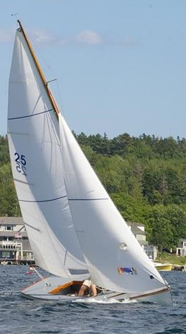 CHARISMA ex-EUNICE is a Boothbay Harbor One Design sloop.