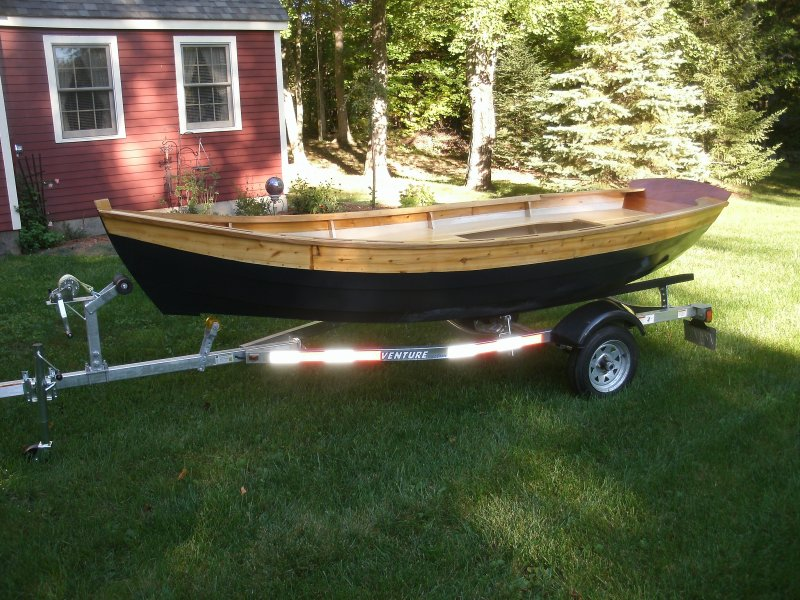 Dory skiff from the port side.
