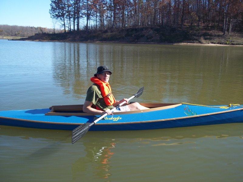 A Dave Gentry designed Chuckanut 15 kayak.