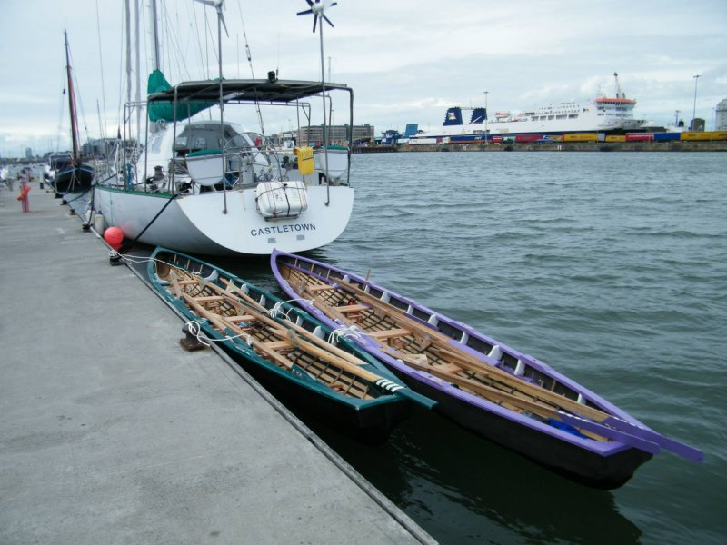 West Coast of Ireland Racing Naomhógs New to Dublin City.