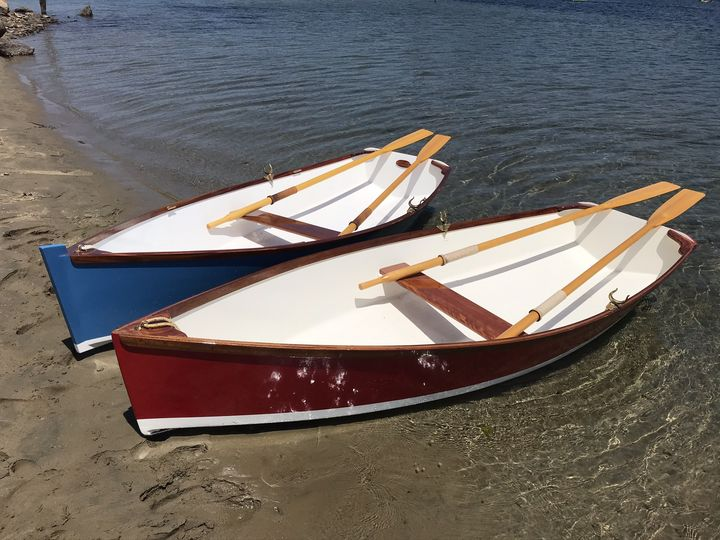 The two boats at rest on the sand spit at Morro Bay California