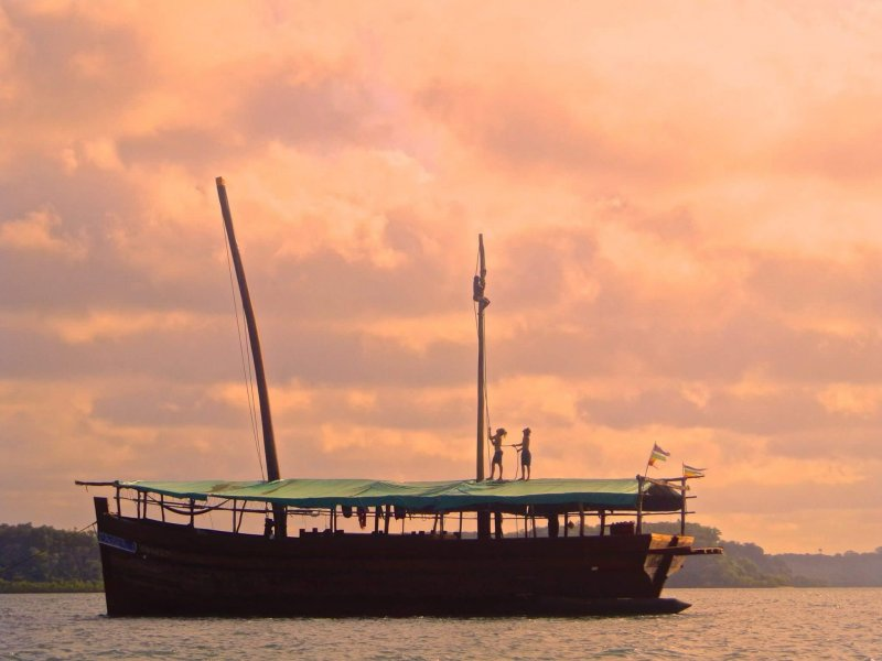 Musafir traditional wooden dhow.