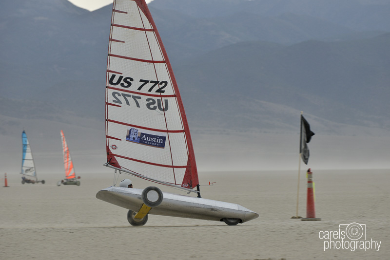 Me competing at the Landsailing World Championships at Smith Creek Nevada 2014 in the International 5.6 Mini Class