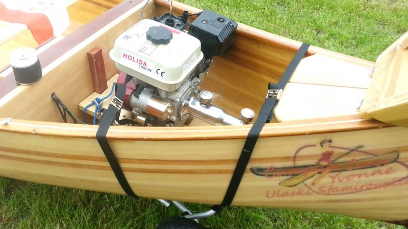 Canoe Eagle Feather engine inboard + long tail + teleflex | WoodenBoat Magazine