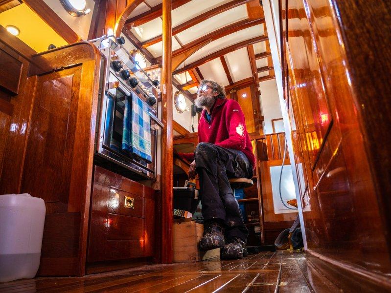 All mahogany interior