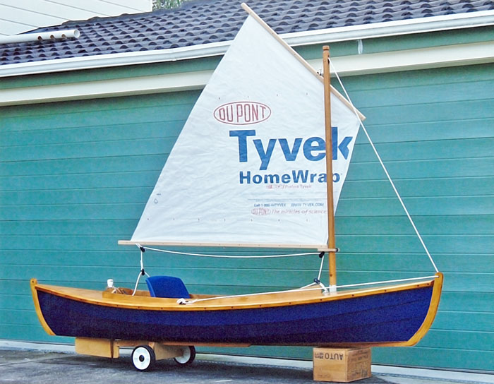 Fiddlehead canoe sailing