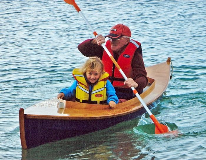 Fiddlehead canoe paddling