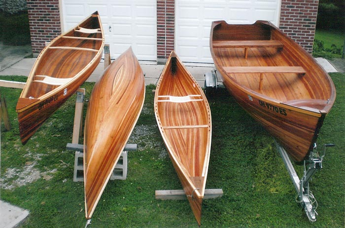Strip built canoe