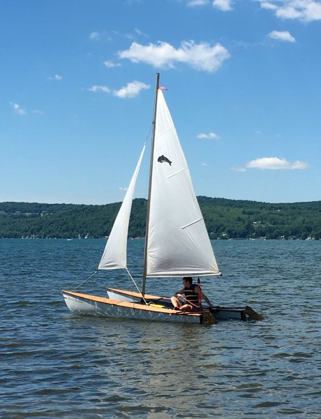 ALICINA BAMBINA sailing on Lake Otsego in New York