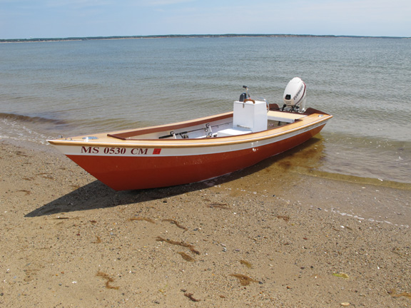 flat bottom outboard powered skiff