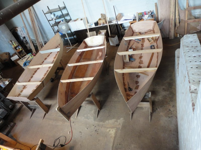 The first group of boats is nearly complete