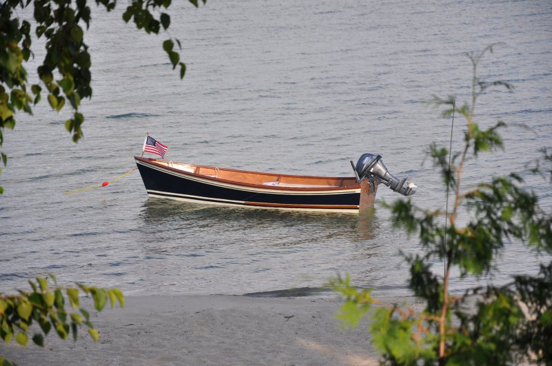 Peeler Skiff launched in Suttons Bay