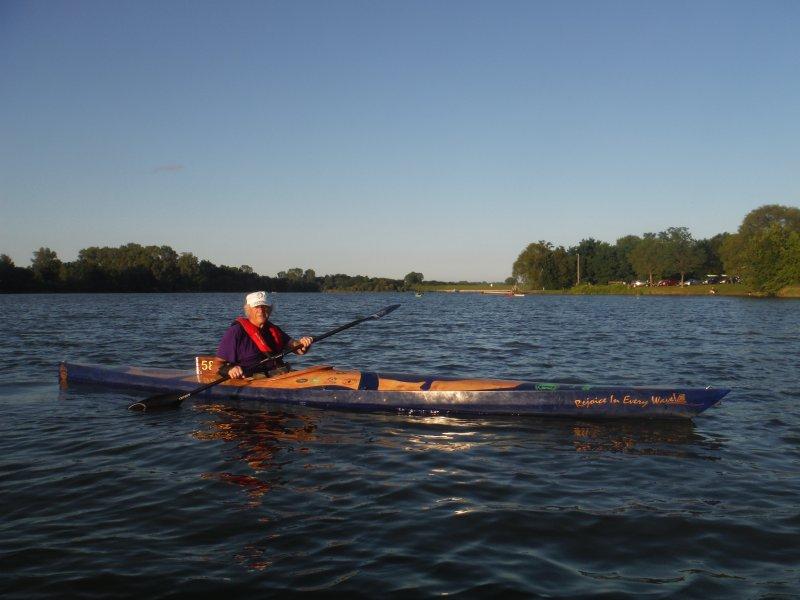 Kayak race boat West River 180.