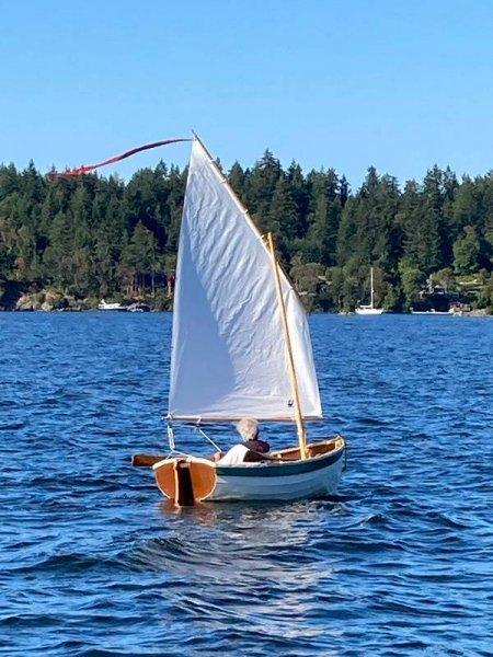 Sea trial of sailing rig