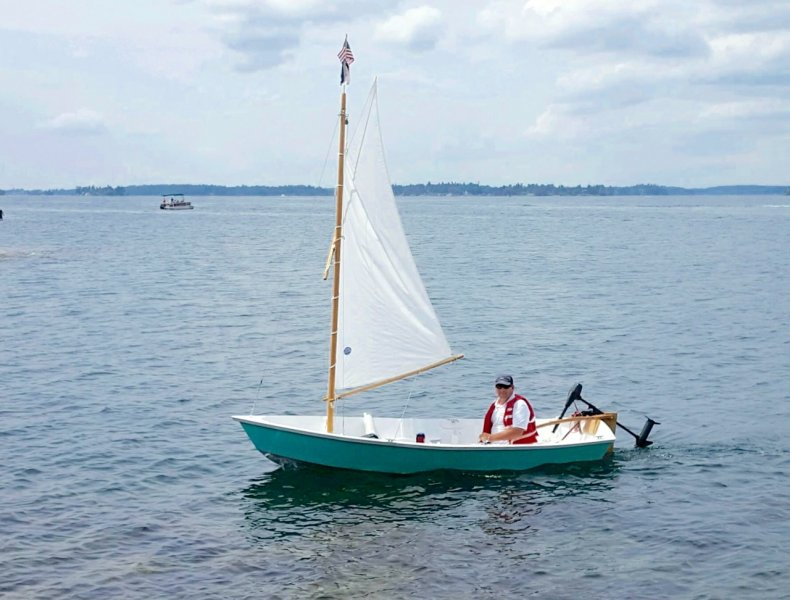 David McNaught sailing on the St. Lawrence River