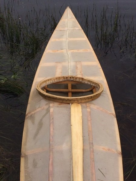 Skin-on-frame kayak built by Asher Molyneaux