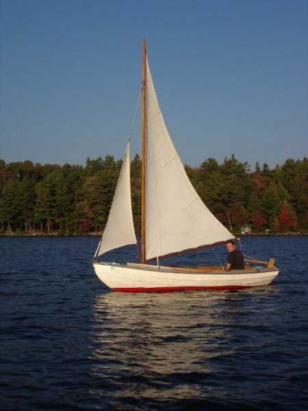 sailing skiff dory