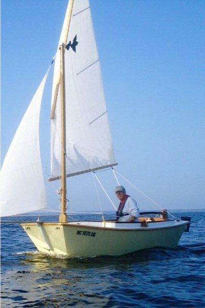 San Francisco Pelican sailing.