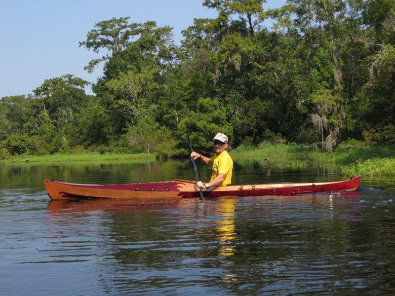 Mark in his Petrel Play Kayak