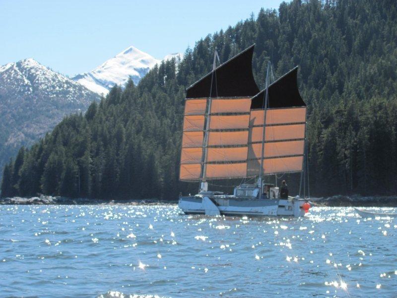 WAYWARD under sail.