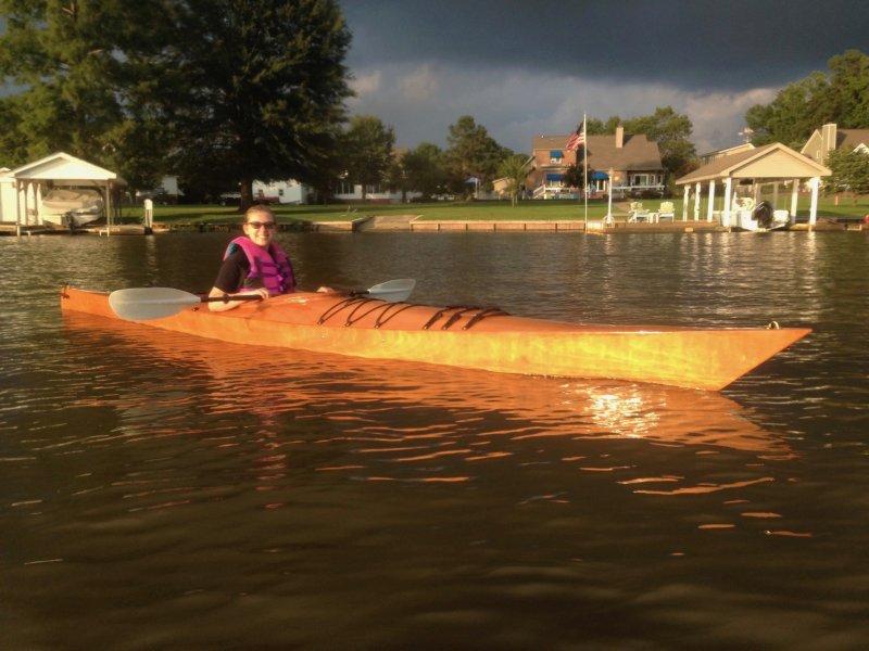 Twinkle a Chesapeake 17 Sea Kayak.
