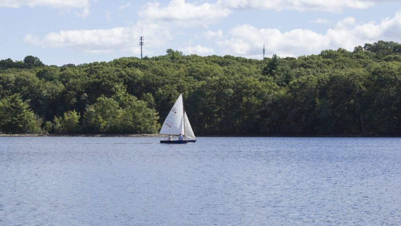 Sailing at Hopkinton State Park, MA