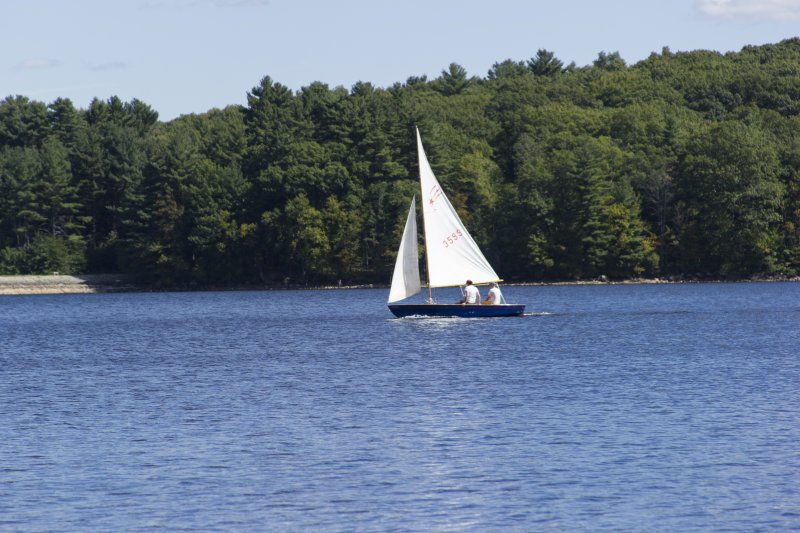 Sailing at Hopkinton State Park, MA
