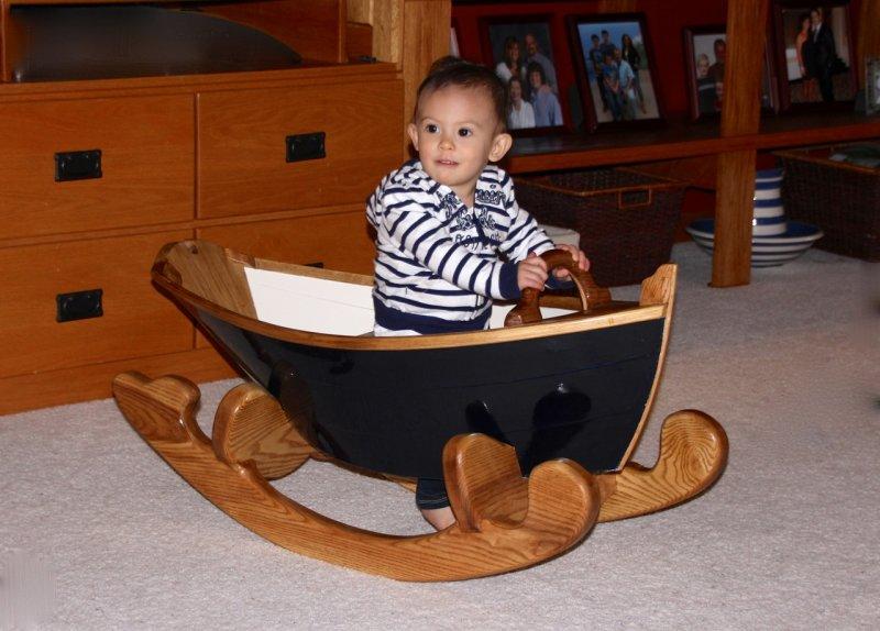 Kelly in rocker boat