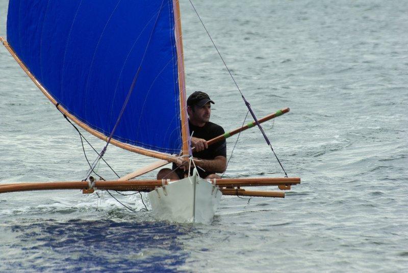 Melanesia Outrigger Sailing Canoe